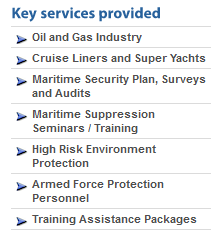 Cruise Ship Security Services Provided